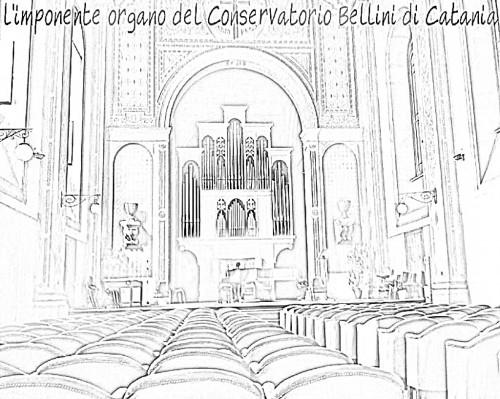 Auditorium Conservatorio V. Bellini Catania - Il monumentale organo dell'Istituto