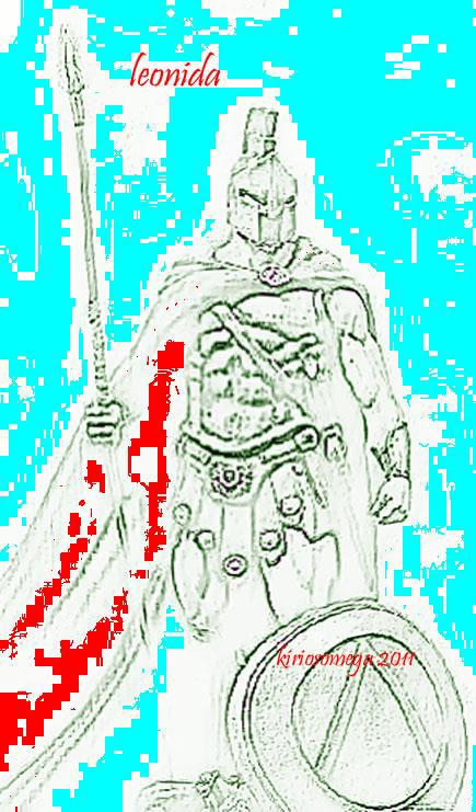 """Leonida ai Persiani: """"ΜΟΛΩΝ, ΛΑΒΕ"""" [Molòn, lavè (vieni a prendere)]"""