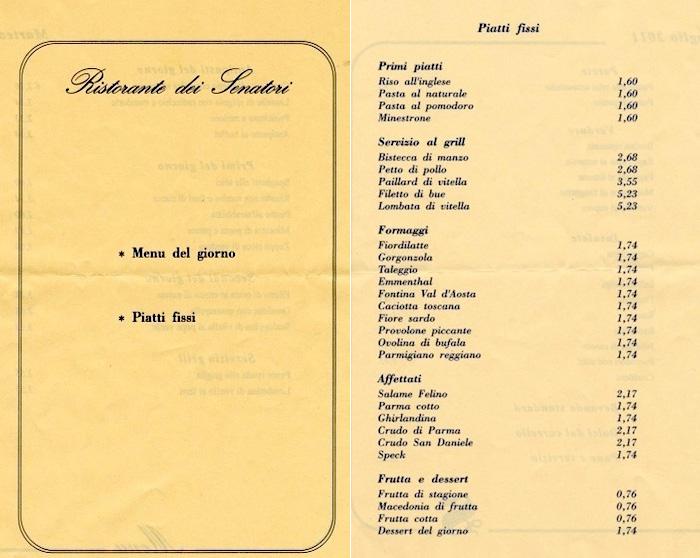 menu senato - varia ogni giorno ma non nei costi