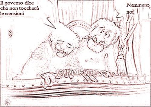 (disegno tratto fa foto dei Muppet) governo finanziaria