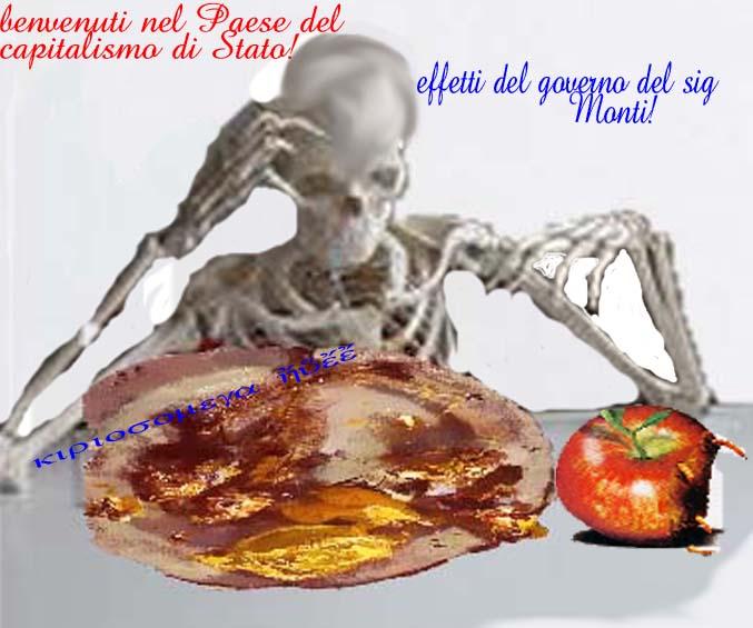 Governo Monti - effetto fame-