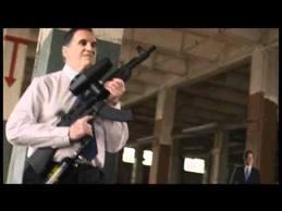 USA Santorum - pubblicità con fucile
