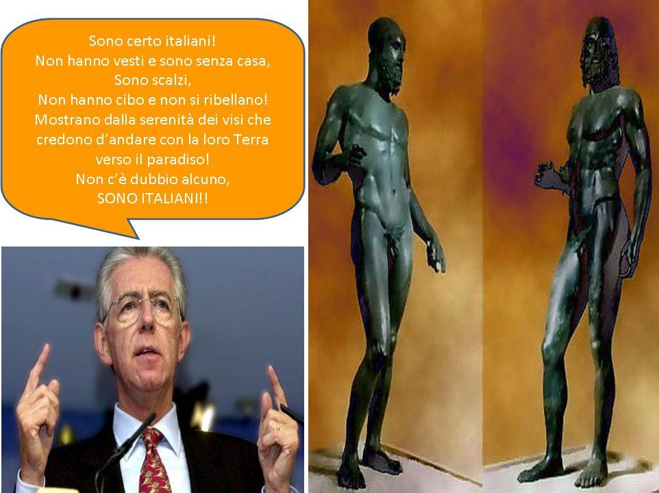 """Mario Monti, come gesuita insinua: """"Sono Italiani""""!"""
