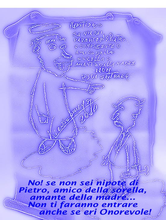 """nepotismo -2- la forma teocratica: """"anche lassù..."""""""