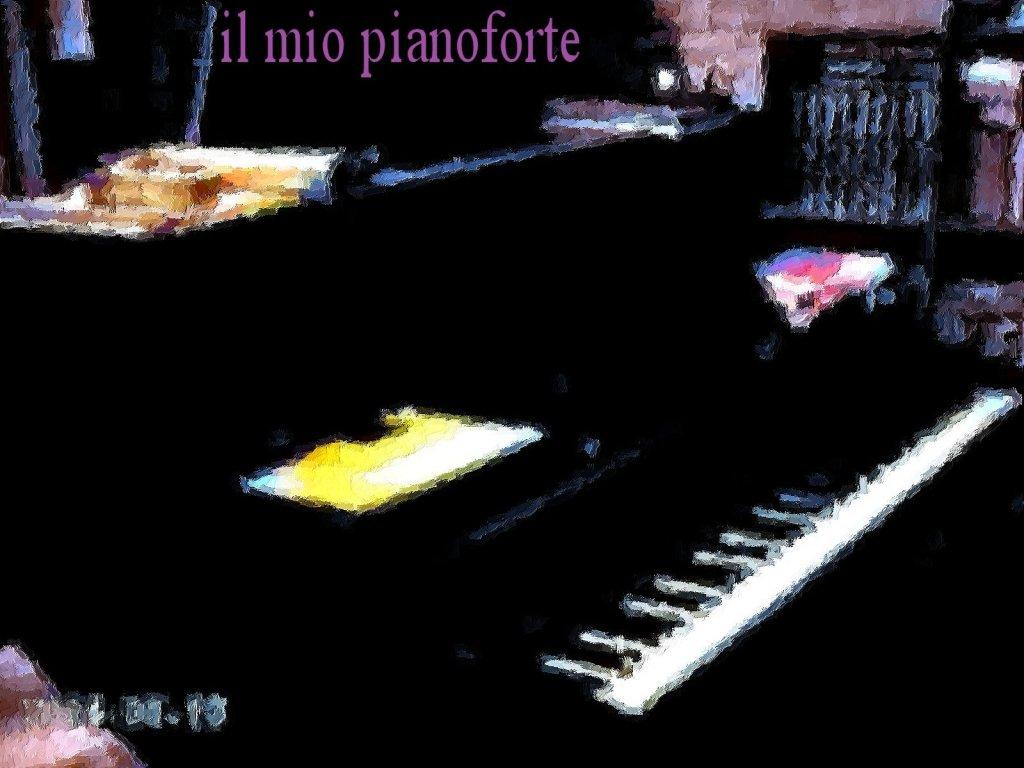 il mio pianoforte- disegno quadretto o olio di kiriosomega