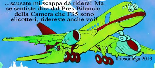AEREO COMMERCIALE COMUNICA-F35 NON E' ELICOTTERO