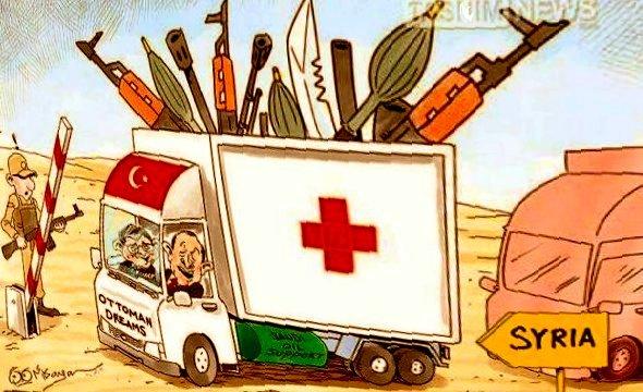 Turchia armi alla Siria su mezzi trasporto materiali ospedalieri