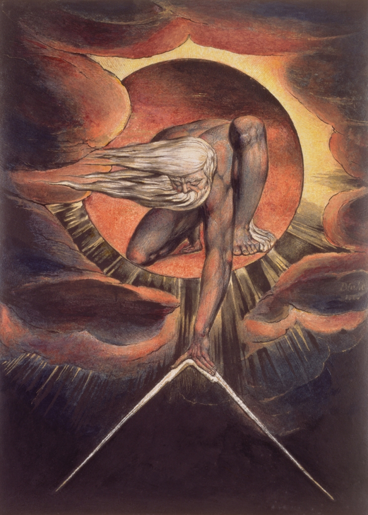 The Ancient of Days painted by William Blake