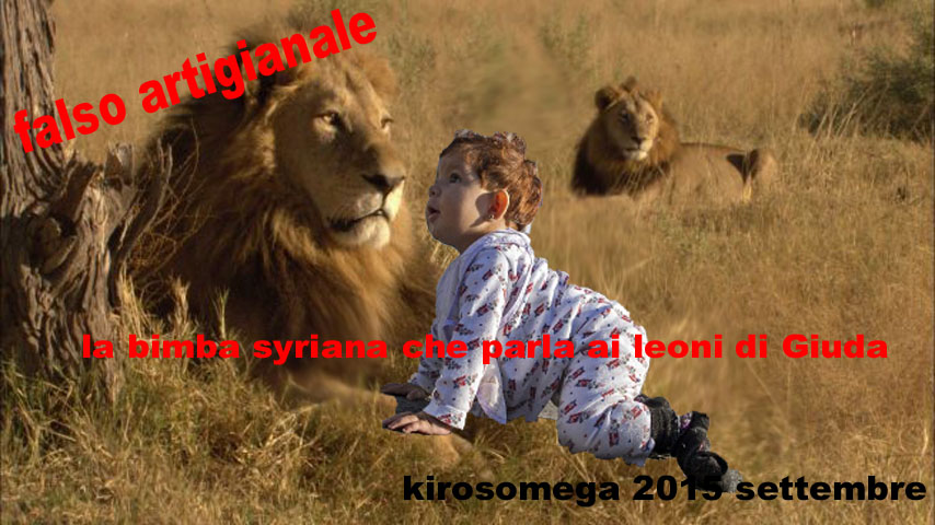 bimba syriana che parla ai leoni di Giuda