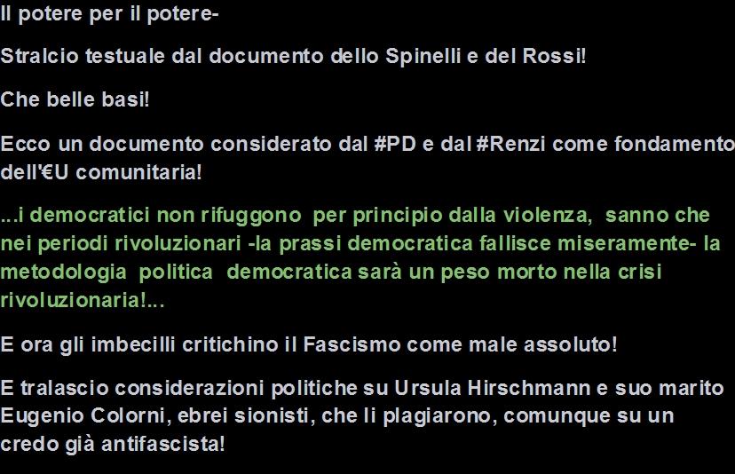 Europa comunitaria Spinelli Rossi