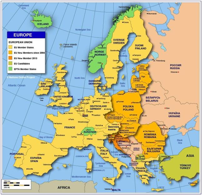 Paesi europei
