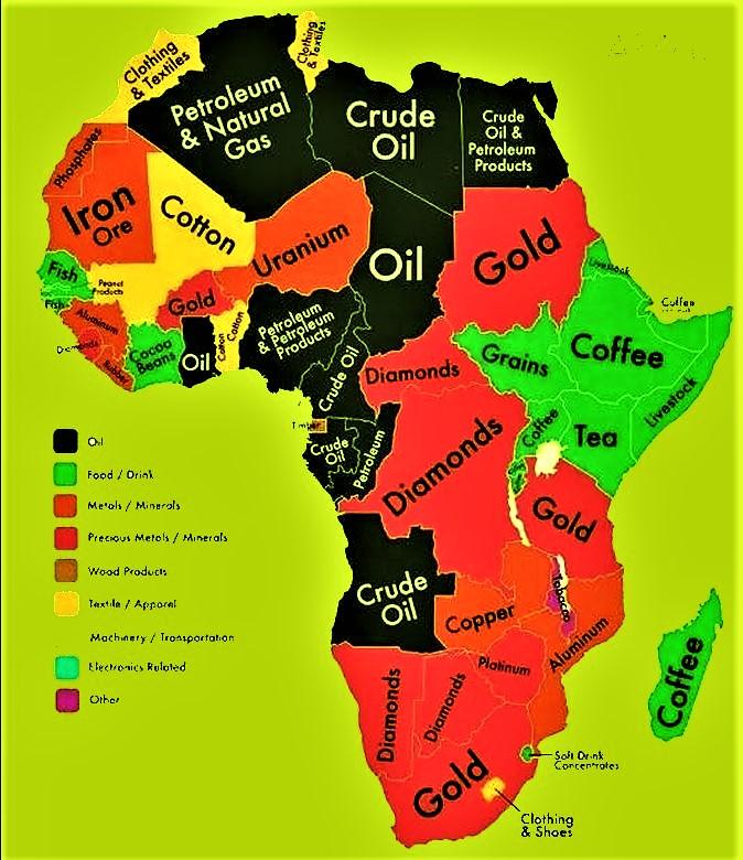 mappa africa secondo il capitalismo